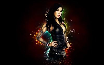 Kat Von D celeb tattoo gothic women model brunette sexy babes wallpaper   1920x1200   30762 ...