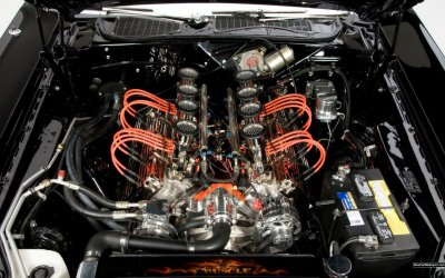 Dodge Challenger engine hot rod muscle cars wallpaper | 1920x1200 | 37602 | WallpaperUP