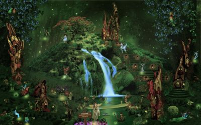 Fantasy castle city forest waterfall fairy elf magical wallpaper | 2560x1600 | 110587 | WallpaperUP