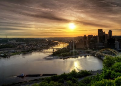Pittsburgh Pennsylvania USA dawn landscape river hdr wallpaper | 2048x1463 | 163331 | WallpaperUP