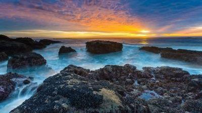 Nature lake sunset landscape ocean ultrahd 4k wallpaper wallpaper | 3840x2160 | 231336 | WallpaperUP