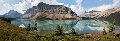 Bow Lake Highway in Alberta Canada wallpaper | 3600x1232 | 281559 | WallpaperUP