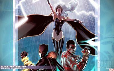 Black Panther comics Marvel Comics Ororo Munroe Storm (comics character) t'challa wallpaper ...