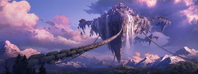 Fantasy landscape art artwork nature scenery wallpaper | 3200x1200 | 666641 | WallpaperUP