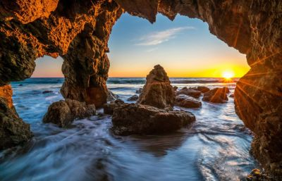 Ocean Sunrises and sunsets USA Malibu Crag Nature wallpaper | 7777x5016 | 991972 | WallpaperUP