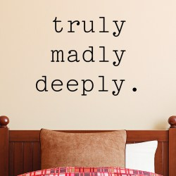 Diverting Love Flowers Madly You Truly Madly Deeply Wall Decal Truly Madly Deeply Wall Decal Madly Love