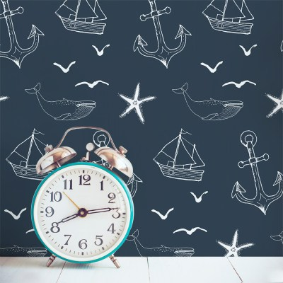 Nautical Seas Removable Wallpaper Tile