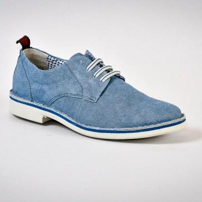 derby Nelson cotton blu