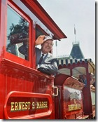 Walt waves to guests from the fireman's side of #4 Ernest S. Marsh - www.WaltsApartment.com