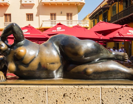 Reclining Nude statue in Cartagena