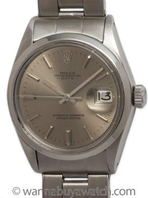 Rolex SS Oyster Perpetual Date circa 1969