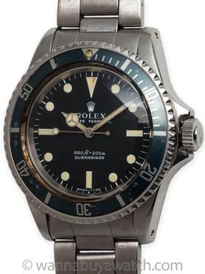 Rolex SS Submariner ref 5513 circa 1966