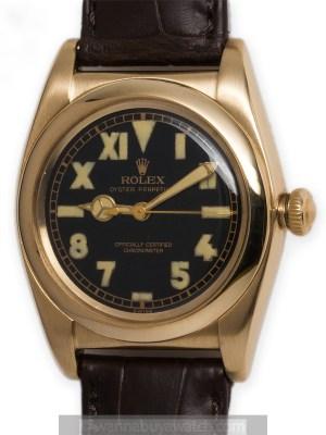 Rolex 14K YG Bubbleback circa 1940's