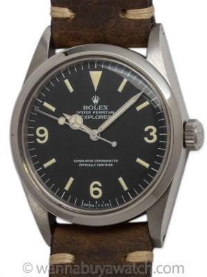 Rolex SS Explorer 1 ref 1016 circa 1965