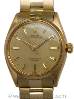 Rolex 18K YG Oyster Perpetual circa 1966