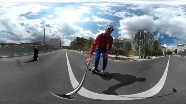 Longboard Gyropode Test à 360°