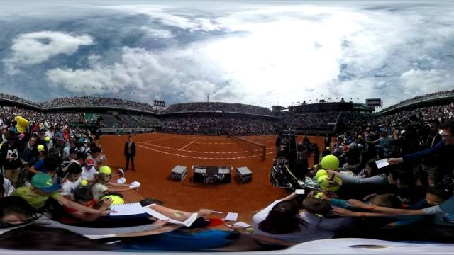Roland je t'aime Tsonga in 360° Roland Garros