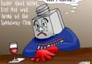 Lug Nut Drowns His Sorrows