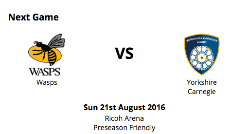 FREE pair of tickets to Wasps v Yorkshire Carnege this Sunday