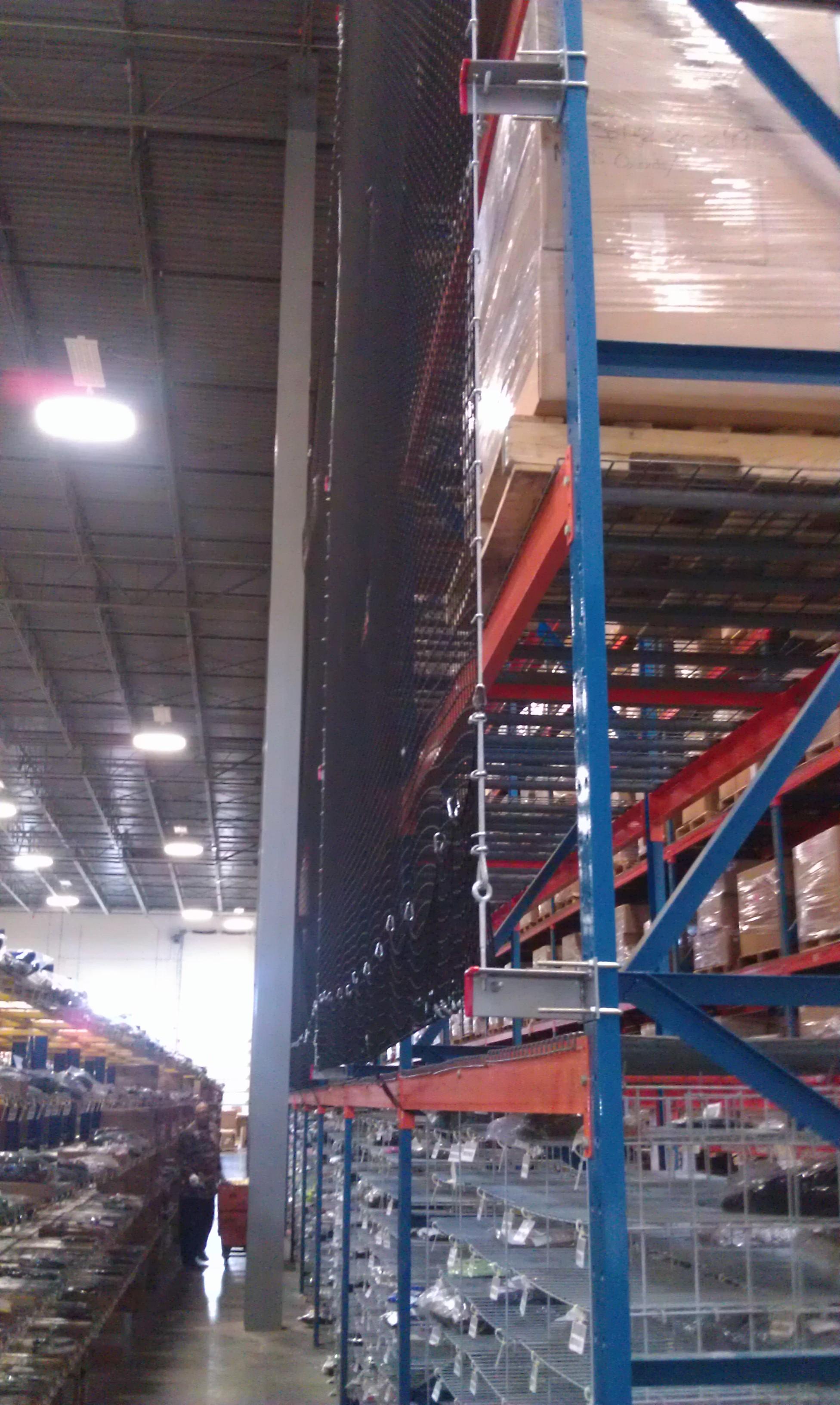 rack safety netting