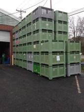 used vented bulk bins