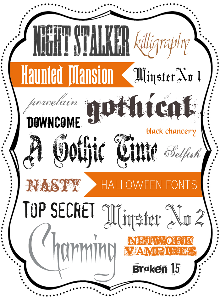 A Round-Up Of Free Halloween Fonts | Warm Hot Chocolate