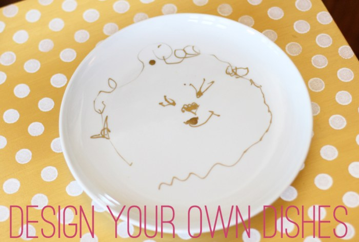 sharpie drawing dishes