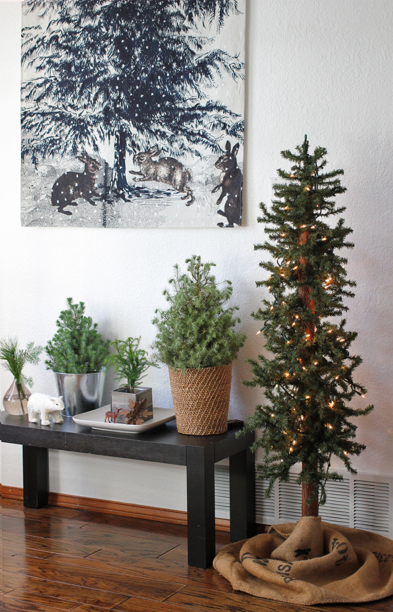 Simple Natural Christmas Trees
