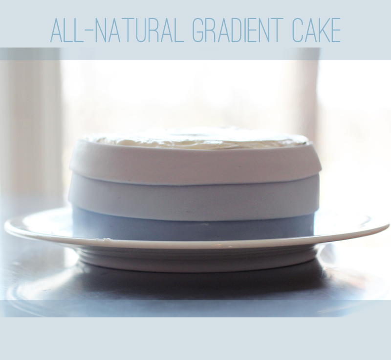 Make a gradient cake using fondant with all-natural dyes.