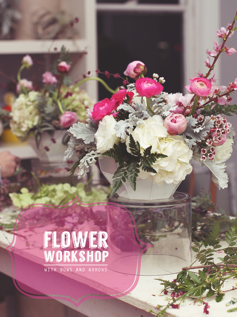 Flower Workshop in Dallas, TX with Bows and Arrows