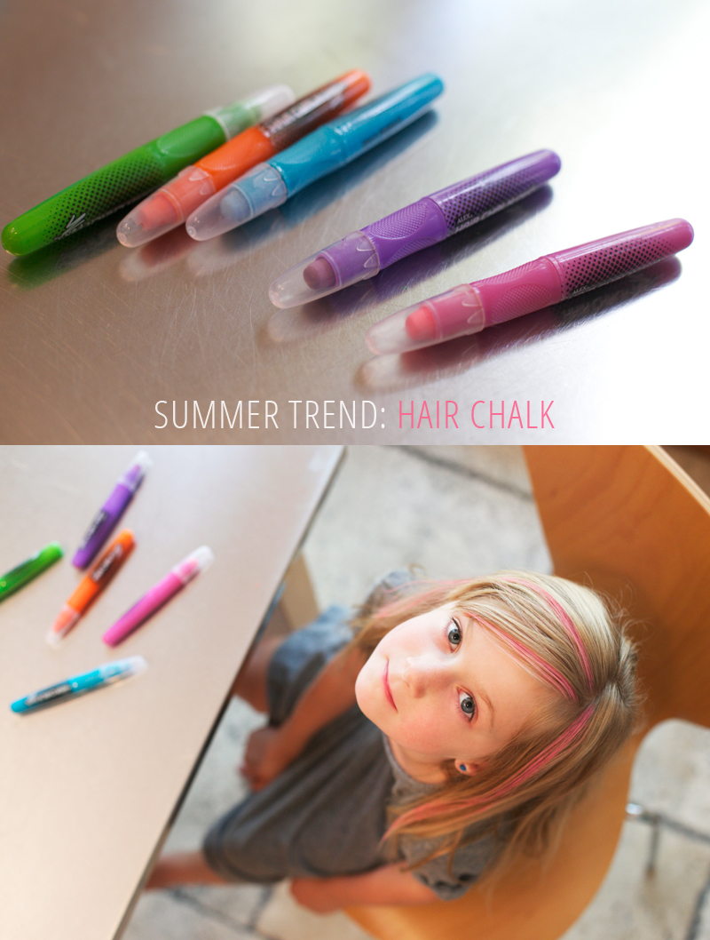 Hair Chalk: A fun way to temporarily color children's hair without the mess of spray-on colors