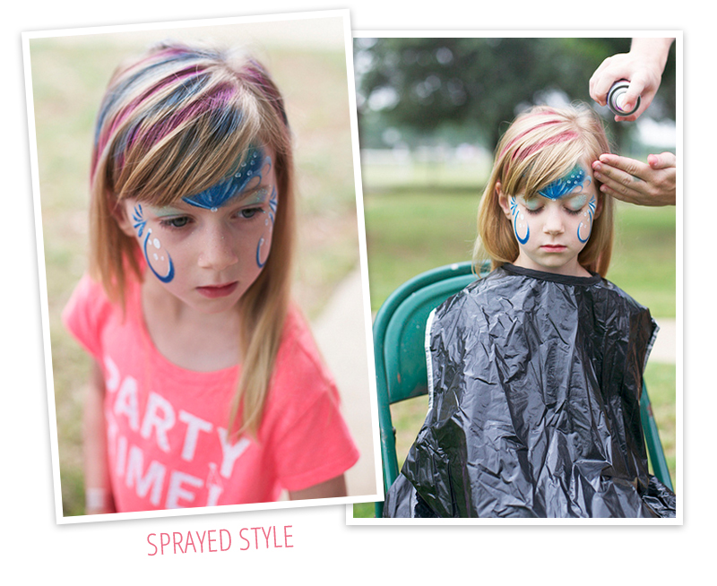 Use hair chalk as a safer, easier way to temporarily color children's hair