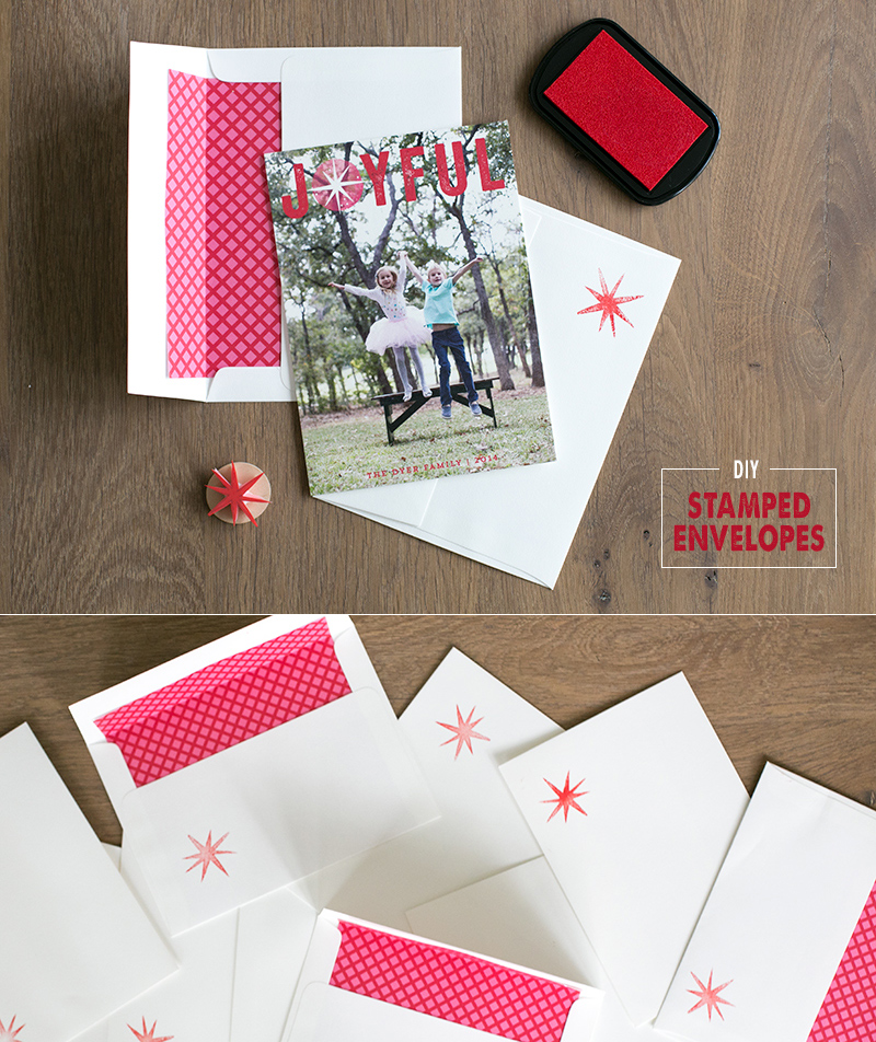 Add a personal touch to your holiday cards by creating your own matching stamp . It's super easy with this tutorial..