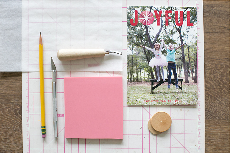 Add a personal touch to your holiday cards by creating your own matching stamp. It's super easy with this tutorial.