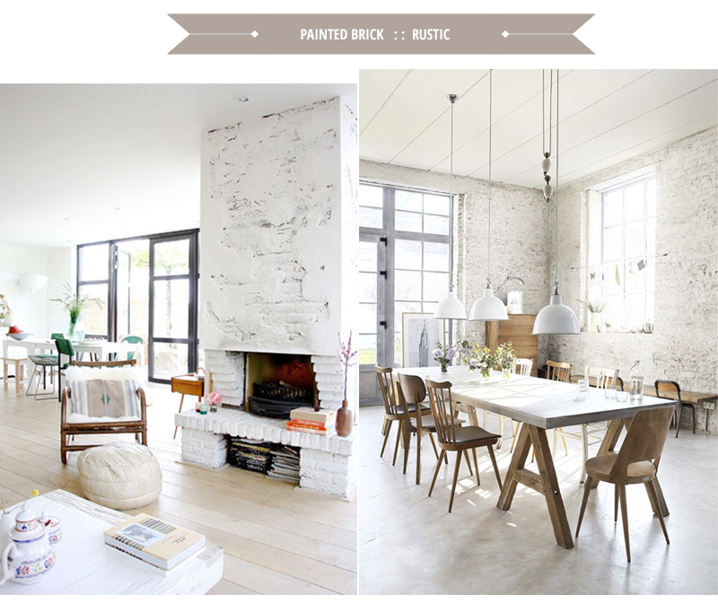 Painted Brick Four Trends To Consider Were Planning Paint Our Fireplace