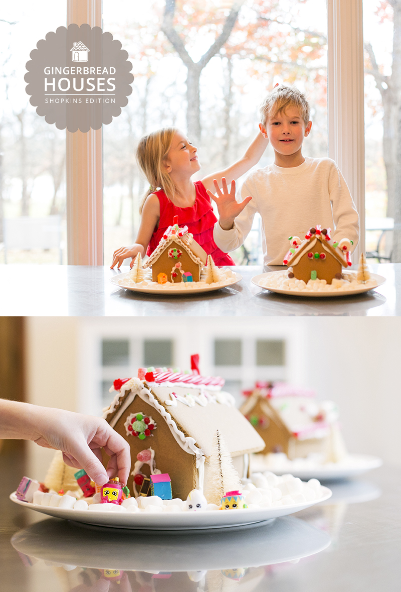 This year's gingerbread house decorating took on a Shopkins theme.