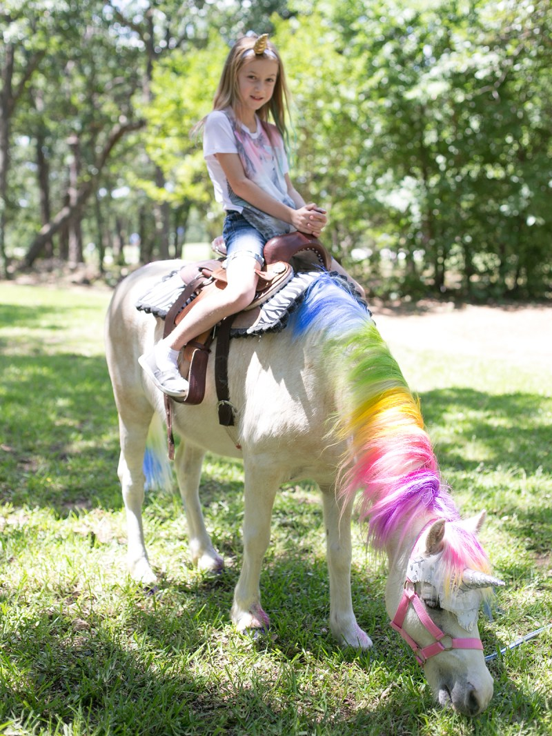Jenna on a unicorn