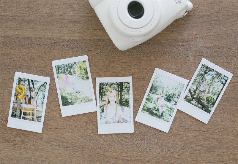 Instax camera and photos