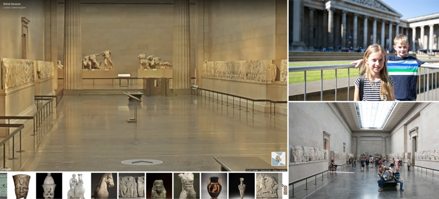 British Museum with Google Street View