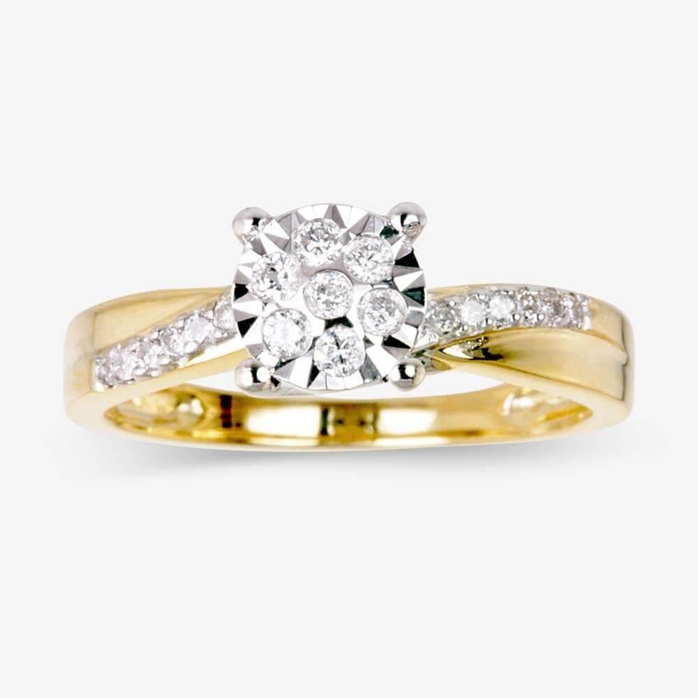 sale cheap womens wedding rings SALE 9ct Gold Diamond Ring
