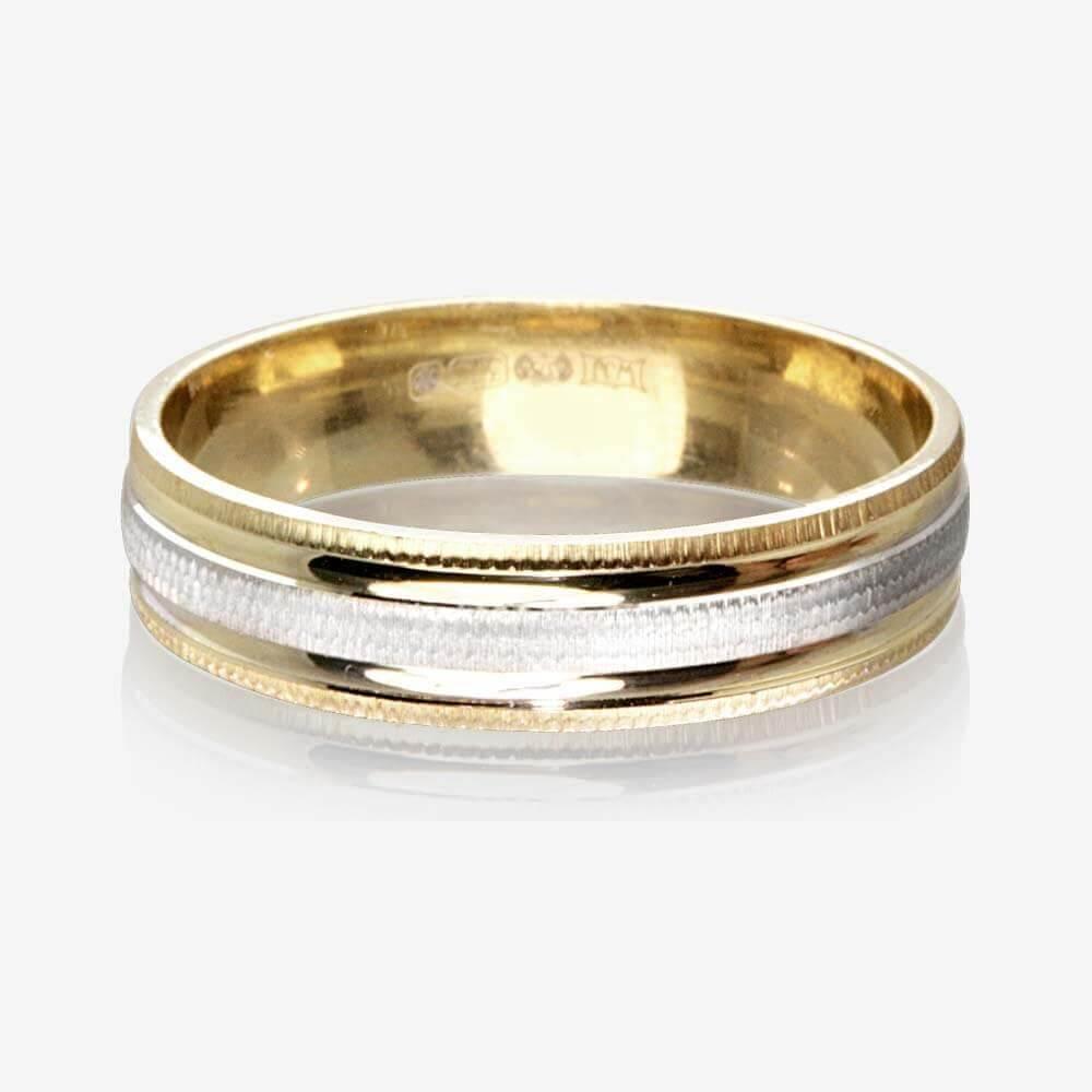 wedding rings rings wedding 9ct Gold 2 Colour Luxury Weight Ladies Wedding Ring 4 5mm