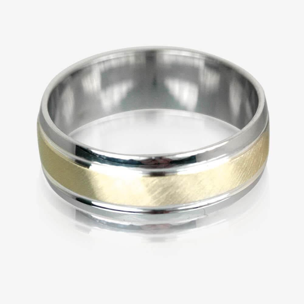 wedding rings silver mens wedding bands 9ct Gold Sterling Silver Luxury Weight Men s Wedding Ring 7mm