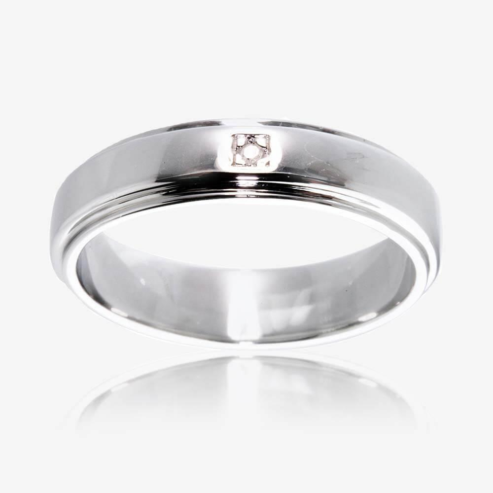 wedding rings silver wedding ring Sterling Silver Diamond Band Ring