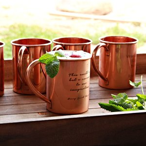 Engraved 100% Pure Copper Mug