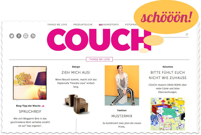 things we love couch mag was eigenes blog. Black Bedroom Furniture Sets. Home Design Ideas
