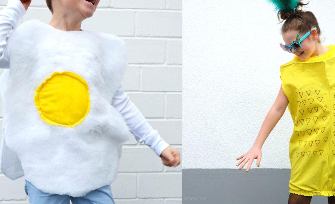 Karnevalskostüme 2016: Das Spiegelei und die Ananas.