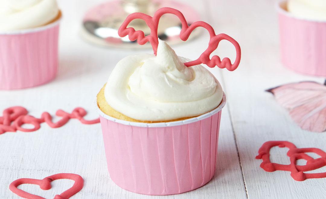 Holunder Sekt Cupcakes.
