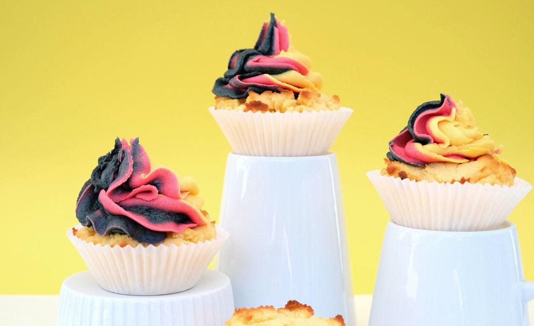 Low carb Muffins mit Kokosmehl und Xucker.