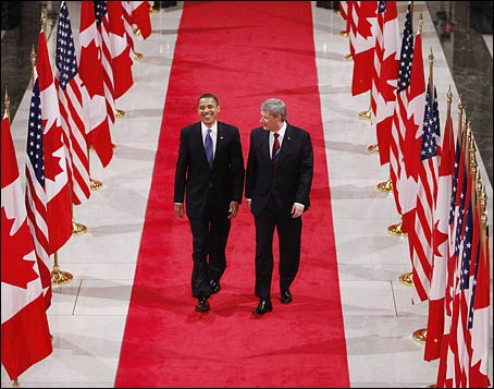 President Obama and Canadian Prime Minister Stephen Harper (Charles Dharapak/Associated Press)