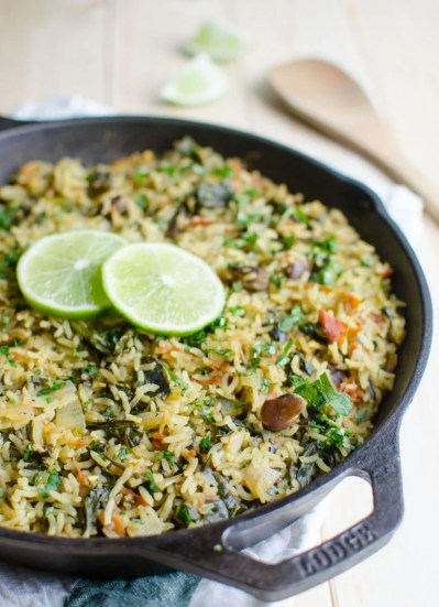 Nutritious And Delicious One Pot Spinach Rice (Video)   Watch What U Eat